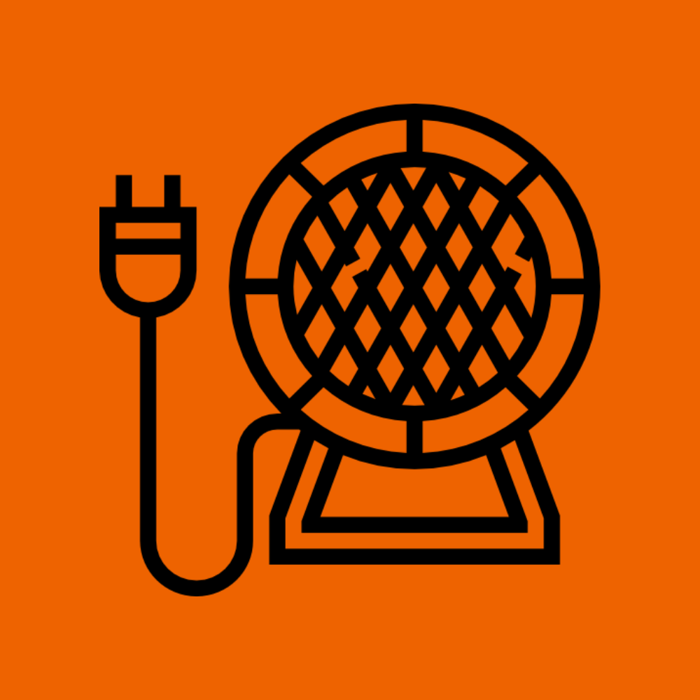 Icon drawing of a Grizzly Bear Events indirect tipi heater that heats up vineyards and wine events.