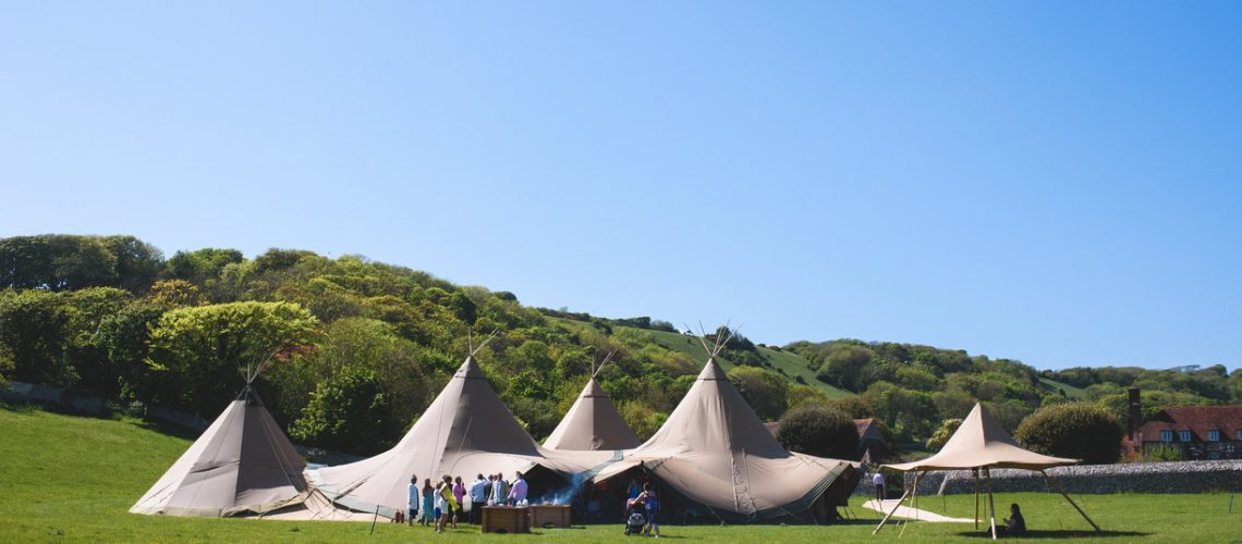 outdoor wedding, tipi, power, chillers, generator