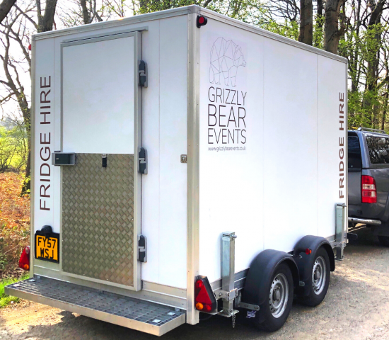 Large Fridge trailer out for Delivery